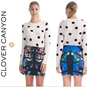Clover Canyon 'Aquarium Puzzle' Skirt (XS)